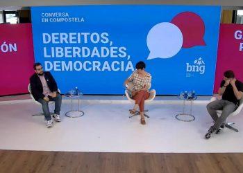 Ana Pontón y Gabriel Rufián denuncian la movilización de la derecha en Madrid contra los indultos del procés
