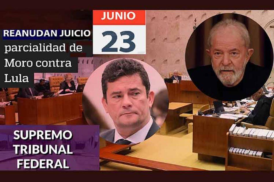 Retomarán en Brasil juicio por parcialidad de Moro contra Lula