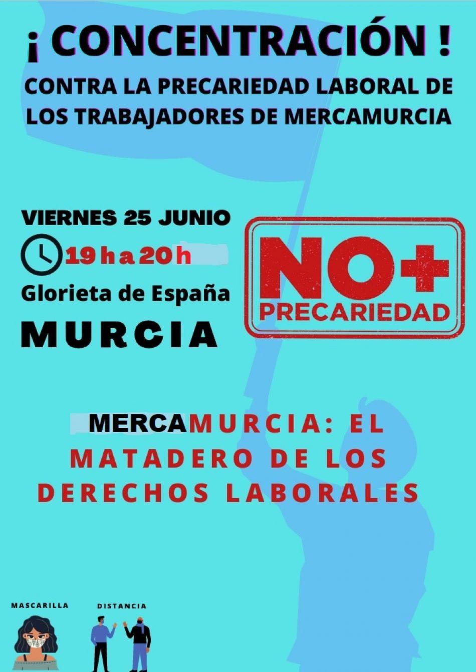 Cuarta concentración frente al Ayuntamiento de Murcia motivada por la problemática laboral en Mercamurcia