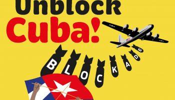 Concentración en València en apoyo a la votación en la ONU contra el bloqueo de EEUU del próximo 23 de junio