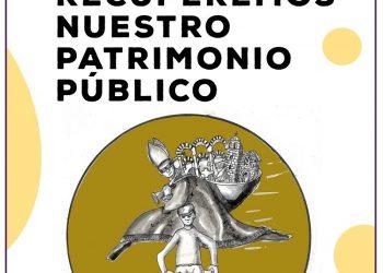 Concentración para que 'Recuperemos nuestro patrimonio público' frente a uno de los bienes inmatriculados, la iglesia de Santa Ana (Granada)