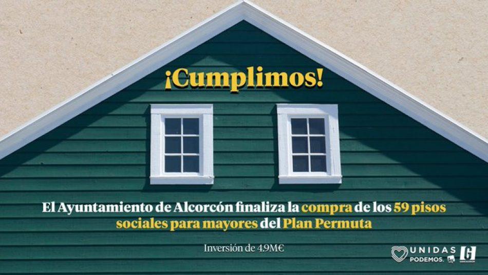 Unidas Podemos Ganar Alcorcón cumple lo prometido: dos años después de llegar al gobierno finaliza la adquisición de las 41 últimas viviendas del Plan Permuta