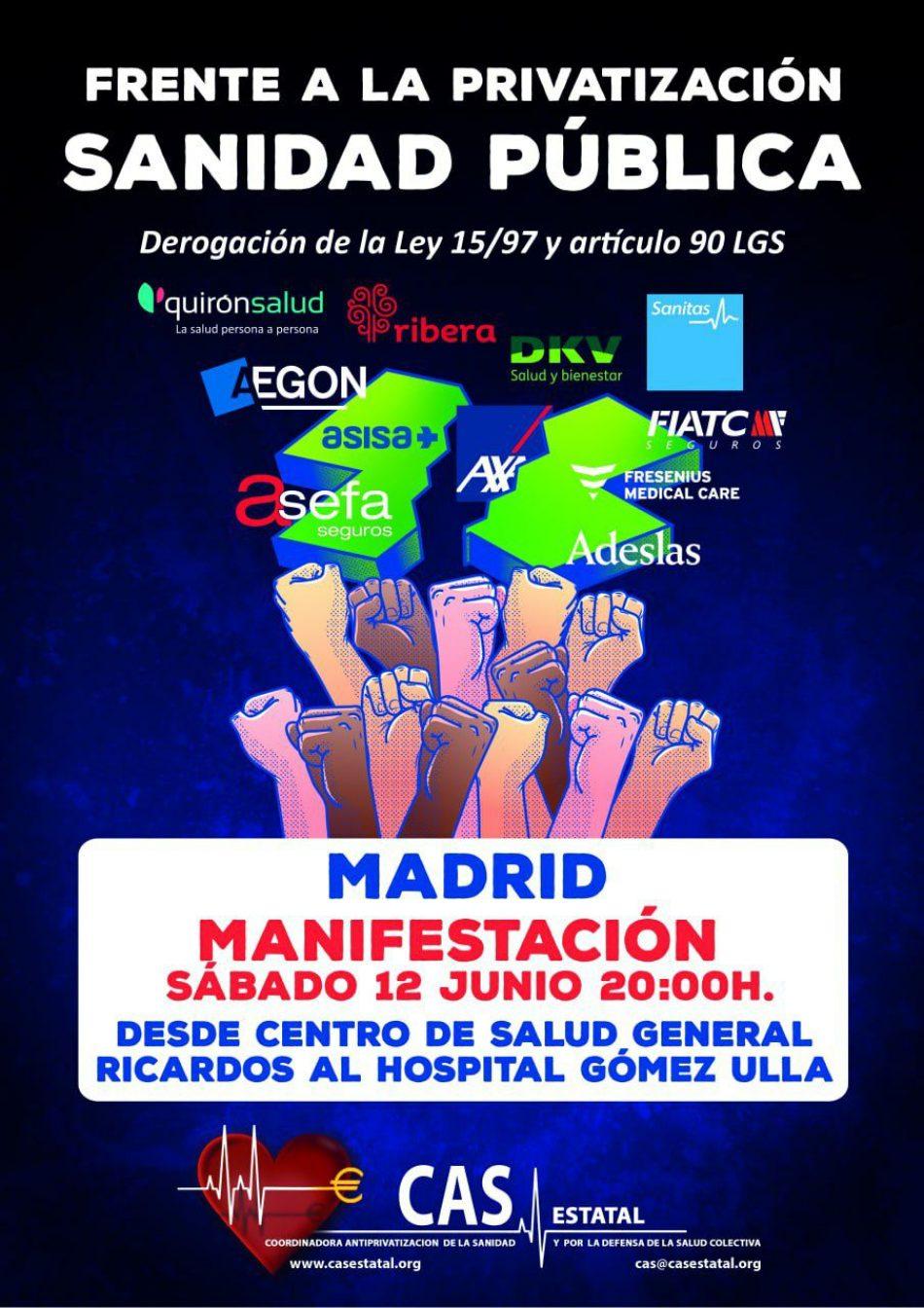 """Concentración 12J: """"Nunca más muertos evitables, nunca más privatizaciones"""""""
