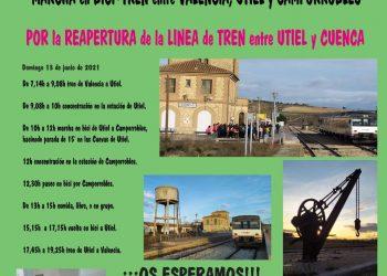 Plataformas exigen la reapertura de la Línea Ferroviaria Utiel-Cuenca