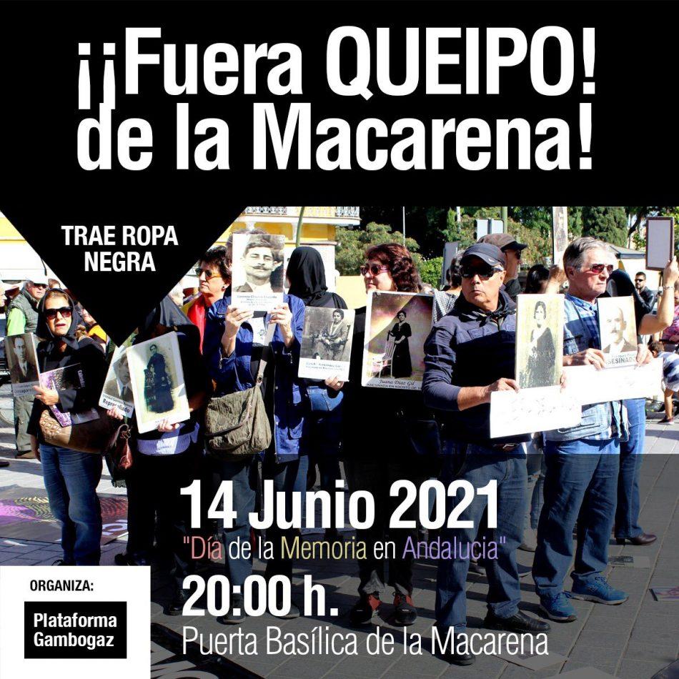 «¡Fuera Queipo de la Macarena!»: concentración el 14-J para exigir que se saquen los restos del genocida franquista