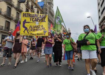 Cientos de personas recorren el centro de Barcelona para reivindicar la «liberación sexual y de género»