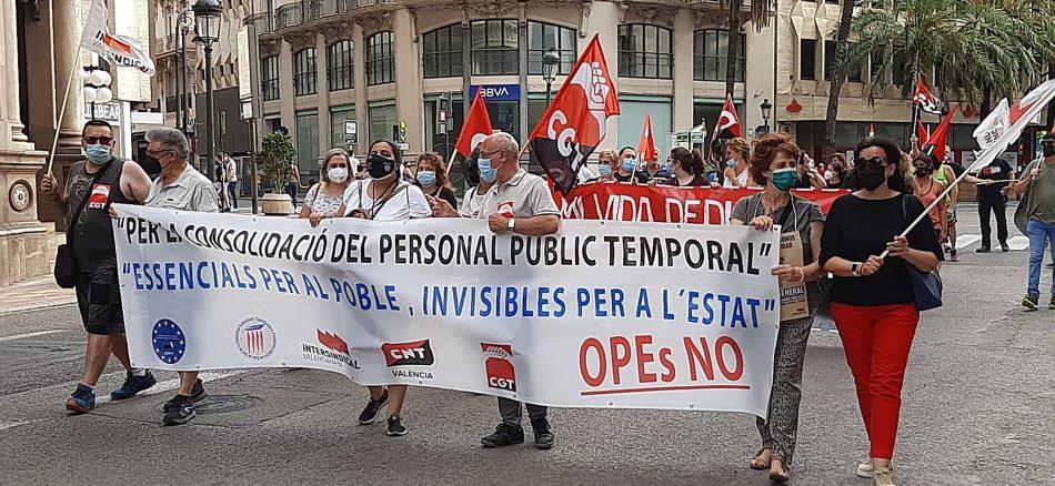 «Hemos superado con creces el reto del 18 de junio contra el abuso de la temporalidad en las administraciones públicas: ahora tenemos que seguir»