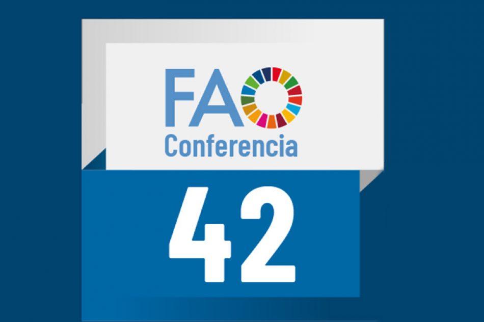 Concluye 42 Conferencia de la FAO con Agenda 2030