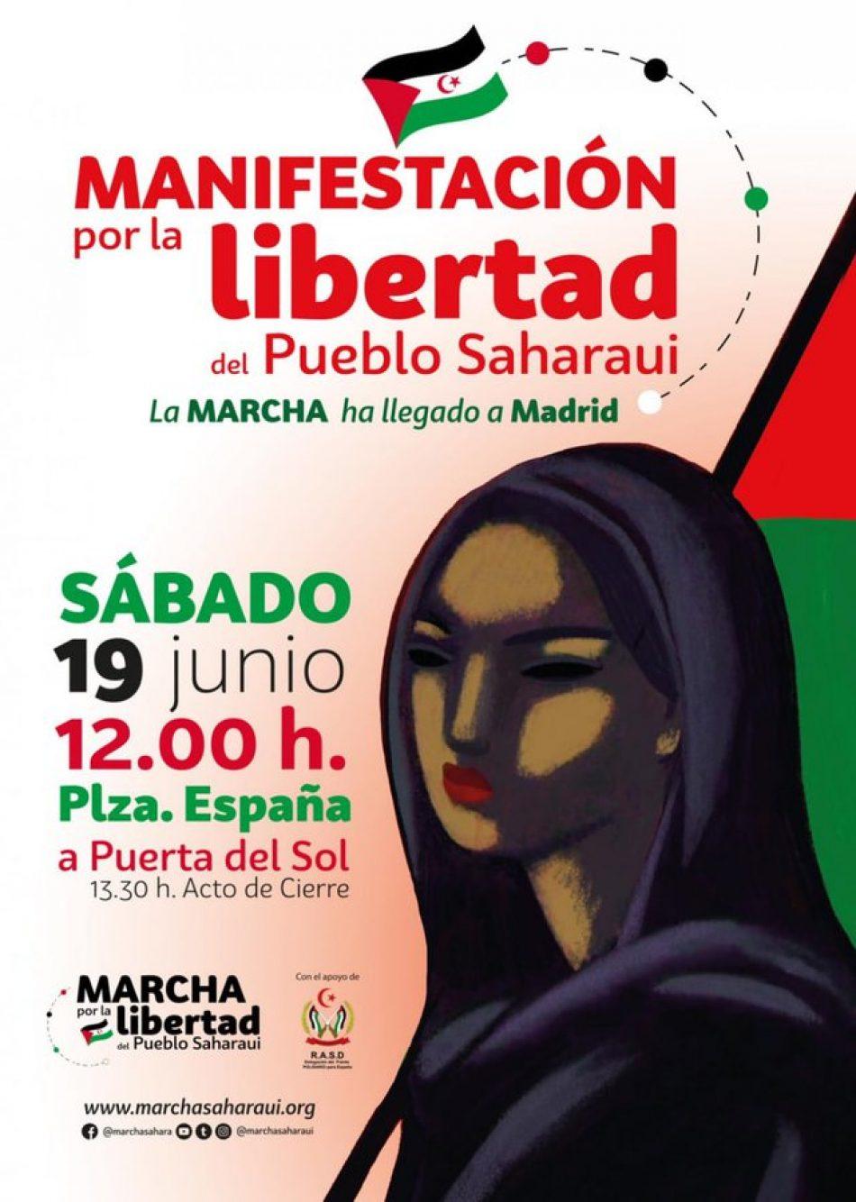 """Izquierda Unida muestra su """"total apoyo"""" a la Marcha por la Libertad del Pueblo Saharaui cuyas columnas se unen mañana en Madrid y llama a participar en la manifestación del sábado"""