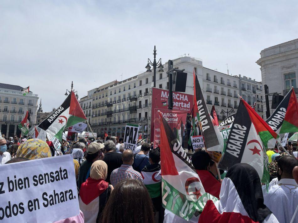 Masiva manifestación final de las Marchas por la Libertad del Pueblo Saharaui en Madrid