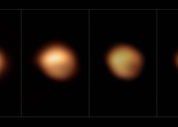 Imágenes inéditas del 'apagón' de la estrella Betelgeuse causado por una nube de polvo