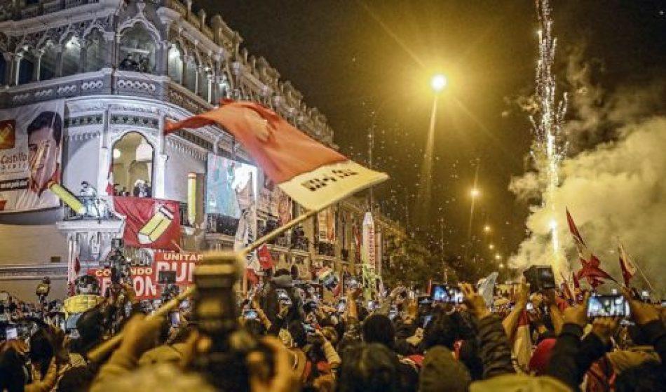 «Balconazo» de Pedro Castillo festejando la victoria y exigiendo el reconocimiento sin más demoras