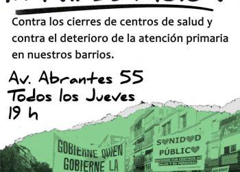 Manifestación contra el cierre del centro de salud de Abrantes y en defensa de la Atención Primaria en Carabanchel