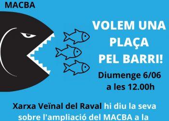 Protesta per ampliació del MACBA, diumenge