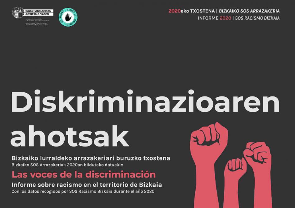 SOS Racismo Bizkaia presenta el informe de 2020 «Diskriminazioaren ahotsak. Las voces de la discriminación»