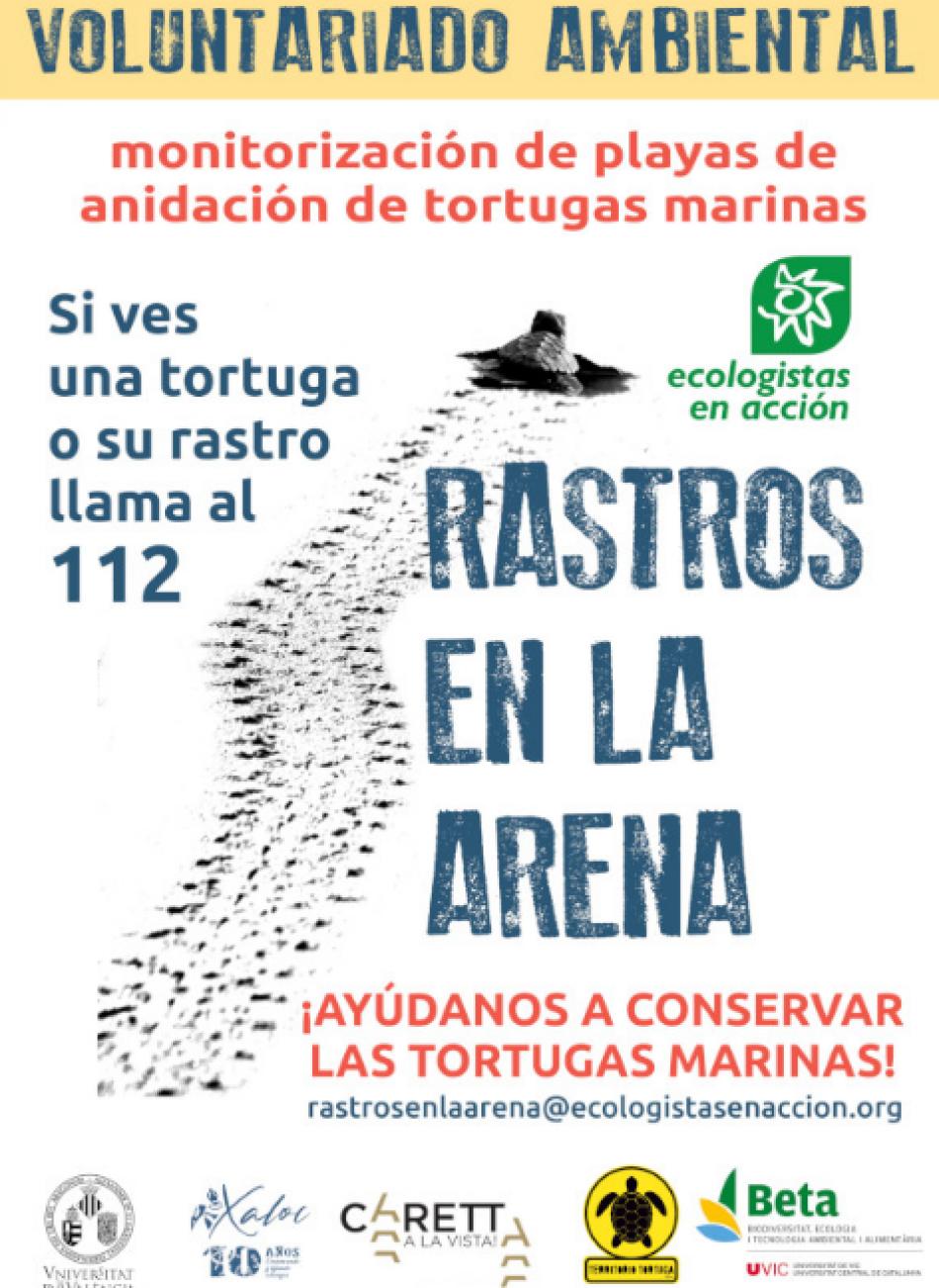 Ecologistas en Acción lanza Rastros en la arena para proteger a las tortugas marinas