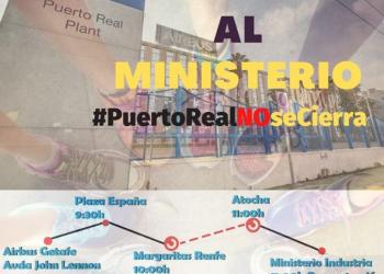El Secretario General de FESIM-CGT llama a marchar al Ministerio de Industria el 11 de mayo: #PuertoRealNOseCierra