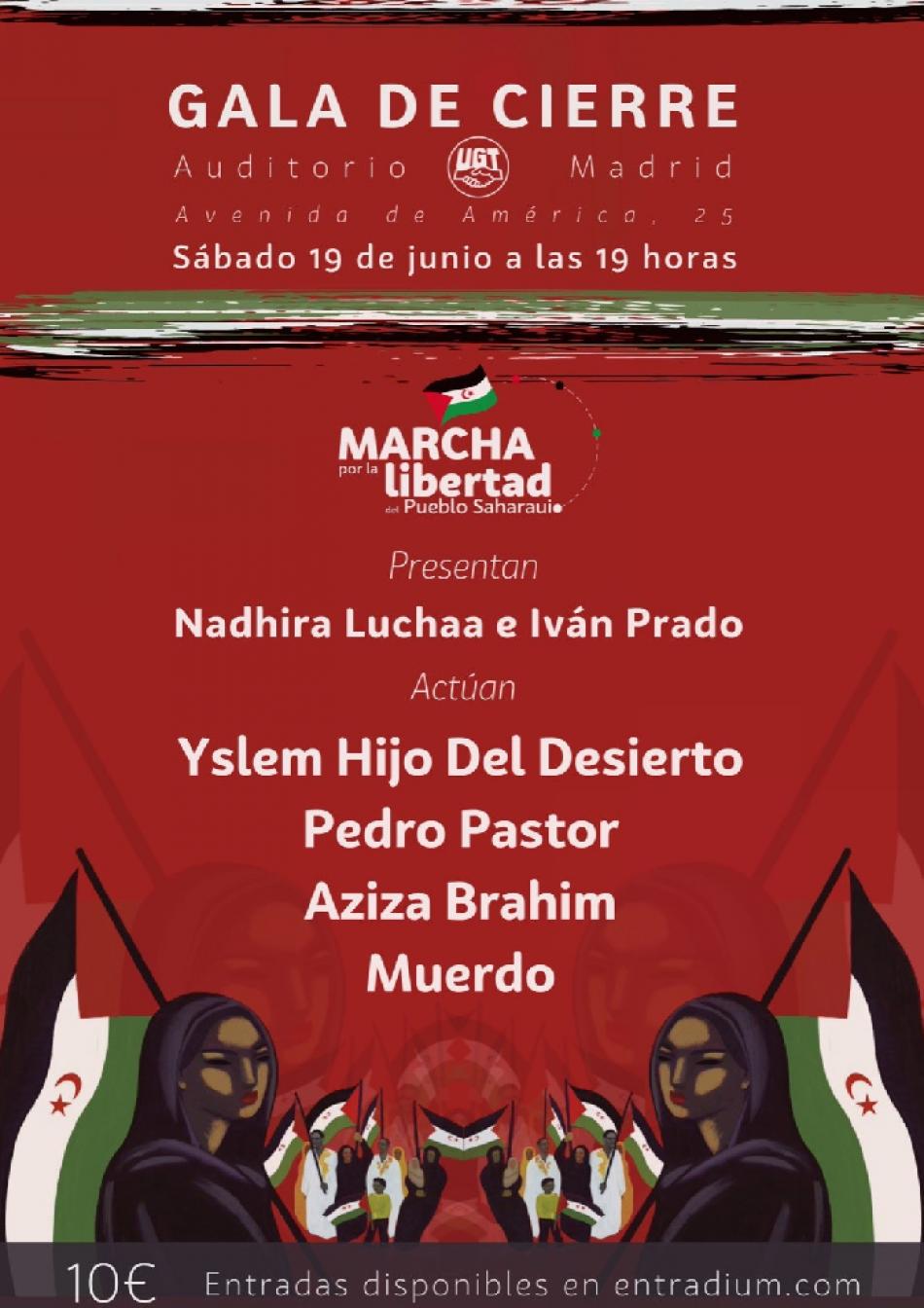 Una gala solidaria con Muerdo o Pedro Pastor pone el broche final a las Marchas Saharauis