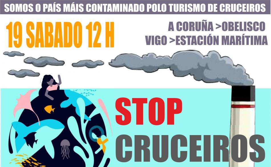 A Coruña e Vigo únense ás cidades contra a volta do turismo de cruceiros e as ampliacións especulativas dos peiraos
