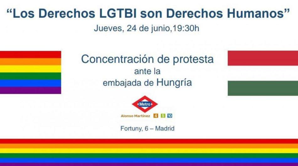 CCOO: «La legislación homófoba aprobada en Hungría es un atentado a los Derechos Humanos»