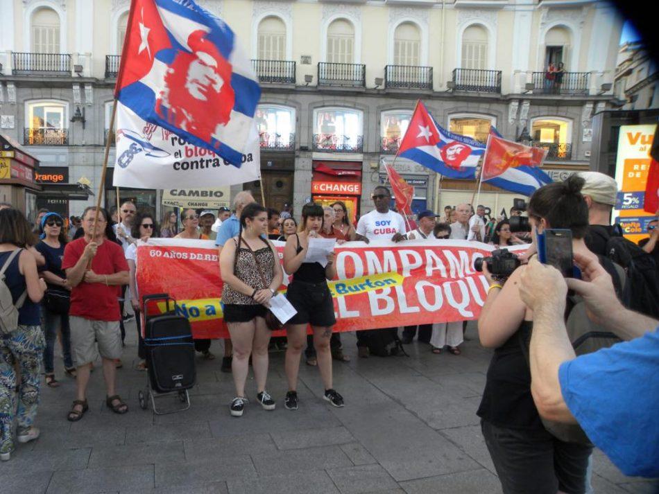 «Frente a la nueva maniobra en el Parlamento europeo, salgamos a las calles el 23 de junio a pedir el fin del bloqueo a Cuba»