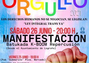 Actos del Orgullo LGTBI+ en La Rioja, del 24 al 28 de junio