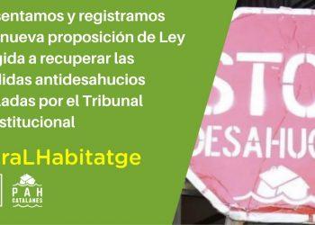 Ante los ataques del Tribunal Constitucional, las PAH Catalanas contraatacan