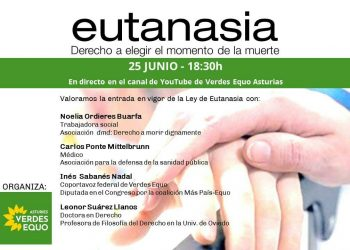 Verdes Equo organiza un debate sobre la Ley de Eutanasia