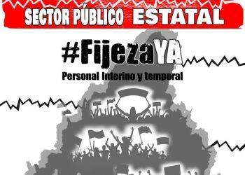 La Coordinadora Madrileña de Emplead@s Públic@s en Fraude de Ley apoya la huelga general del sector público del 18 de junio por la #FijezaYa