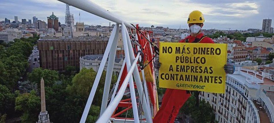 «El plan España Puede del Gobierno no garantiza una recuperación verde y justa»
