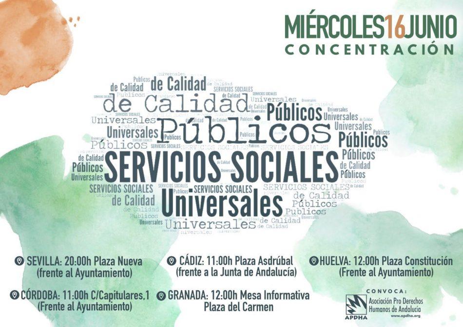 APDHA denuncia el abandono que sufre la población más excluida y el colapso de los Servicios Sociales en Andalucía
