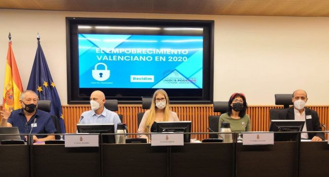 Unidas Podemos urge a cambiar el sistema de financiación autonómico que «empobrece» a comunidades como la valenciana