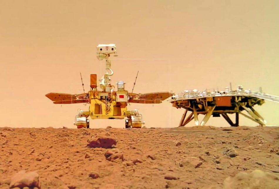 China publica varias imágenes en color de la superficie de Marte