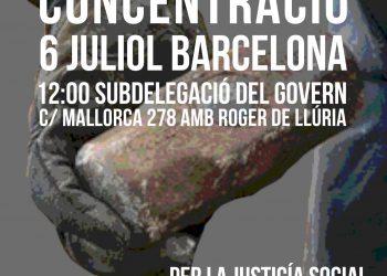 Concentració a Barcelona: «Per la justícia social. Les persones abans que el capital. Derogació de les reformes laborals, JA!»