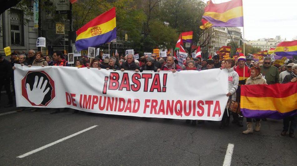 «Por una Ley de Memoria Democrática que ponga fin a la impunidad del franquismo»