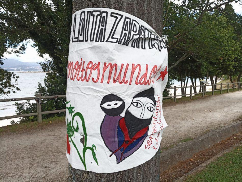 Acto con la delegación marítima zapatistas en Madrid