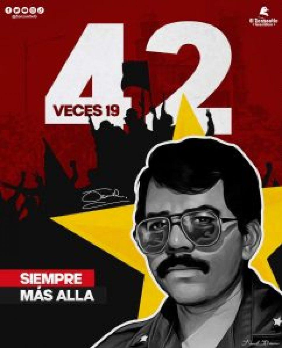 Saludo al 42º aniversario de la Revolución Popular Sandinista