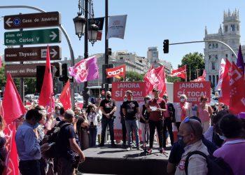 Movilización sindical exige el cumplimiento de los compromisos del Gobierno de coalición, subir el SMI y derogar las reformas laborales de 2010 y 2012