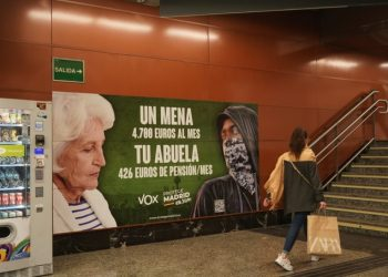 El TSJM avala el cartel de Vox porque 269 menores extranjeros «son un evidente problema social y político» para Madrid