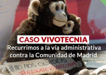 Caso Vivotecnia: PACMA interpone un recurso de alzada contra la Comunidad de Madrid