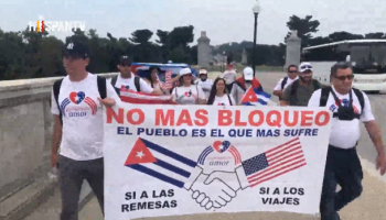 Caravanas contra el bloqueo de EEUU a Cuba llegan a Washington
