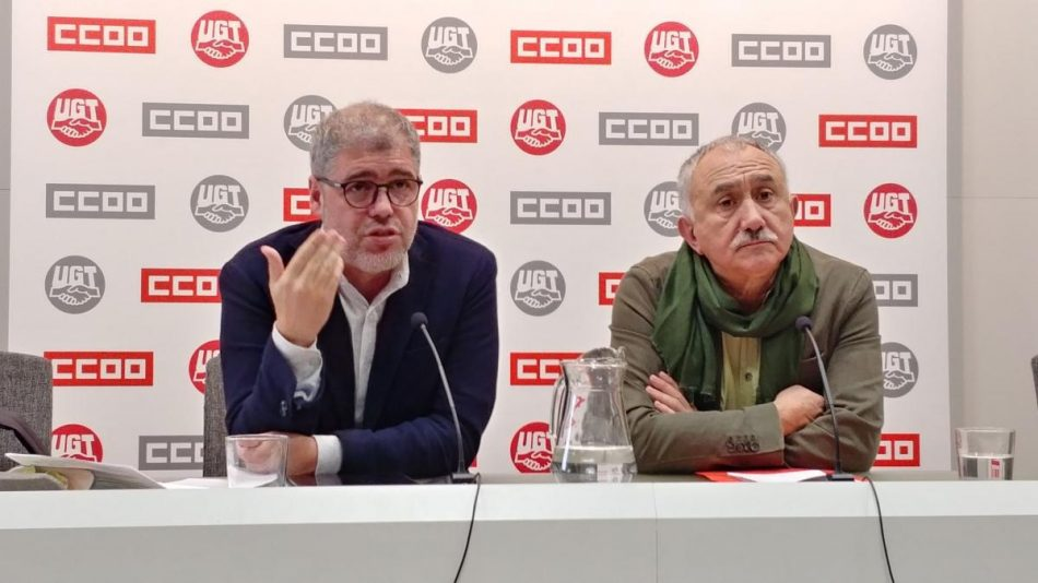 Los sindicatos exigen a Pedro Sánchez un calendario de reuniones para tratar la subida del salario mínimo