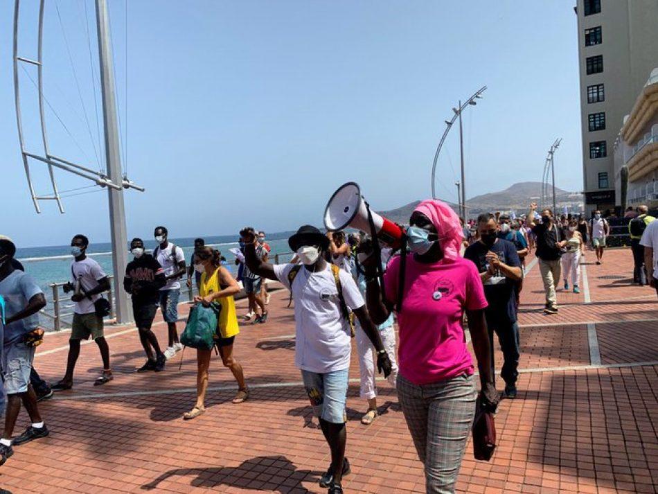 La red estatal Caravana Abriendo Fronteras en su sexta edición, continúa con actos de denuncia en territorio canario