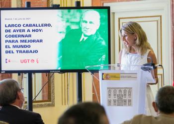 Yolanda Díaz: «Somos deudoras y deudores del legado de Largo Caballero»