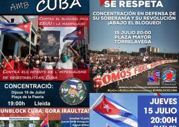 15-J: MESC llama a la participación en las concentraciones de apoyo a Cuba en varias ciudades