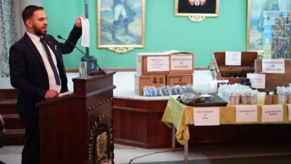 Continúan investigaciones sobre envío de armas bélicas a Bolivia