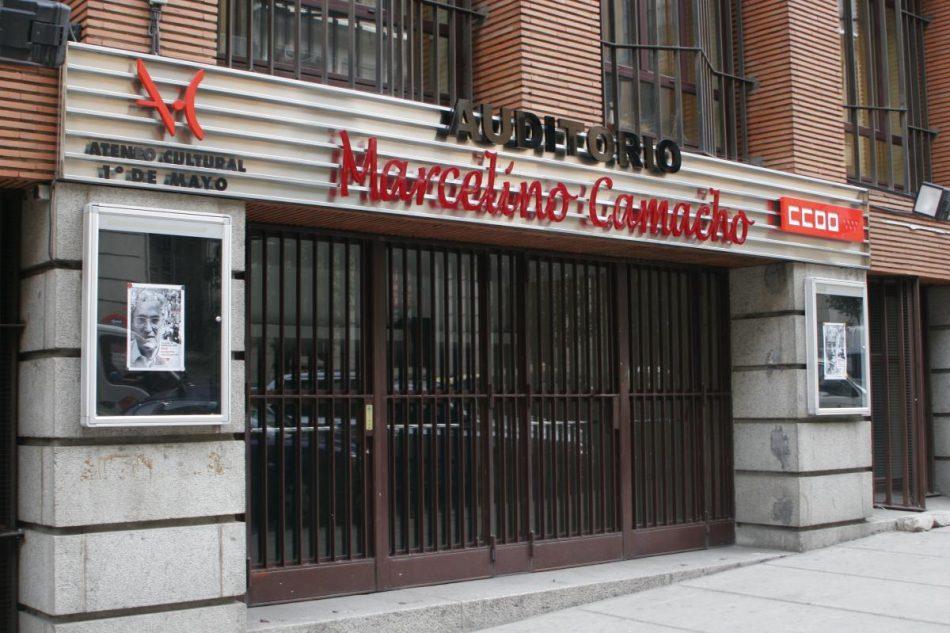 IU Madrid celebra la fase final de su I Asamblea Regional en el auditorio Marcelino Camacho los días 10 y 11 de julio