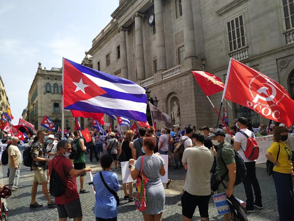 Acto contra el bloqueo y las injerencias en solidaridad con la Revolución cubana