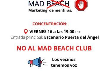 16-J: Protesta vecinal contra el Mad Beach