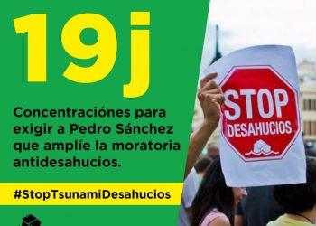 La PAH: «El 19 de Julio salimos a las calles de todos pueblos y ciudades a parar el Tsunami de desahucios»